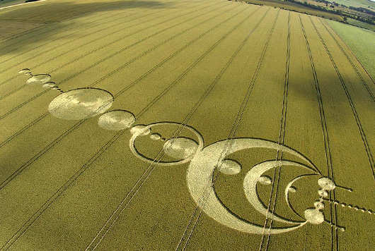 Real Alien Symbols Crop circles. Made by ...